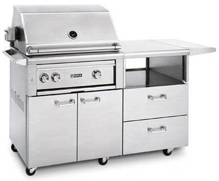 "L30R3MLP Lynx 30"" Freestanding Grill with Two Cast Brass Burners and Rotisserie - Liquid Propane - Stainless Steel"