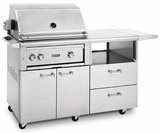 "L30R3MNG Lynx 30"" Freestanding Grill with Two Cast Brass Burners and Rotisserie - Natural Gas - Stainless Steel"