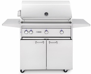 "L36ATRFLP Lynx 36"" Freestanding Outdoor Grill with All Trident Burners with Rotisserie - Liquid Propane - Stainless Steel"