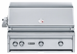 """L36ASRNG Lynx 36"""" Built-in All-Sear Grill with ProSear 2 Burners and Rotisserie - Natural Gas - Stainless Steel"""