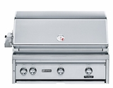 """L36PSR2NG - Lynx 36"""" Built-In Professional Outdoor Grill with 1 ProSear and Rotisserie- Natural Gas"""