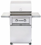 "L400PSFLP Lynx 24"" Sedona Series Liquid Propane Freestanding Grill with 1 Stainless Steel Burners and Blue LED Lights - Stainless Steel"