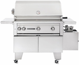 """L600ADARNG Lynx Sedona ADA Compliant 36"""" Outdoor Grill with 1 Prosear Burner, 1 SS Burner & Rotisserie - Natural Gas - Stainless Steel"""