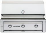 """L600PSNG Sedona by Lynx 36"""" Built-in Grill with (2) Stainless Steel Burners & ProSear Burner - Natural Gas - Stainless Steel"""