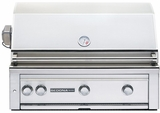 """L600PSRLP Sedona by Lynx 36"""" Built-in Grill with (2) Stainless Steel Burners, ProSear Burner & Rotisserie - LP Gas - Stainless Steel"""