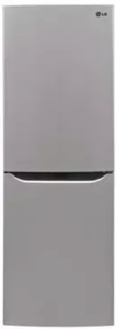 "LBNC10551V LG 24"" Counter Depth Bottom-Freezer Refrigerator with Multi-Air Flow Freshness System and Pocket Handles - Silver"