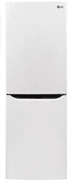 "LBNC10551W LG 24"" Counter Depth Bottom-Freezer Refrigerator with Multi-Air Flow Freshness System and Pocket Handles - White"