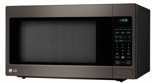 "LCRT2010BD LG 24"" 2.0 cu. ft. Countertop Microwave Oven with TrueCookPlus and EZ Clean - Black Stainless Steel"