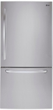 """LDCS22220S LG 30"""" Bottom Freezer Refrigerator with Smart Cooling System and SmartDiagnosis System - Stainless Steel"""