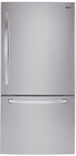 "LDCS22220S LG 30"" Bottom Freezer Refrigerator with Smart Cooling System and SmartDiagnosis System - Stainless Steel"