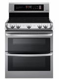 "LDE4411ST LG 30"" 7.3 Cu. Ft. Capacity Electric Range with Dual Oven and EasyClean Interior  - Stainless Steel"