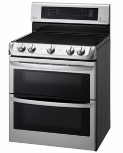 LDE4415ST LG 7.3 Cu. Ft. Electric Double Oven Convection Range with Easyclean Express - Stainless Steel