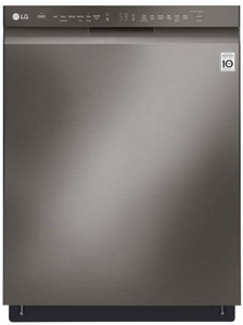 "LDF5545BD 24"" LG Front Control Dishwasher with QuadWash and EasyRack Plus - Black Stainless Steel"