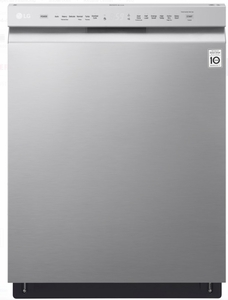 "LDF5545ST LG 24"" Front Control Dishwasher with QuadWash and EasyRack Plus - Stainless Steel"