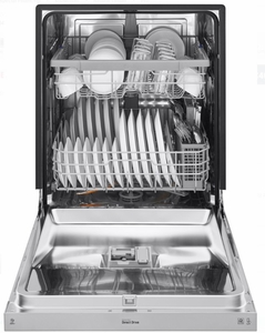"""LDF5545ST LG 24"""" Front Control Dishwasher with QuadWash and EasyRack Plus - Stainless Steel"""