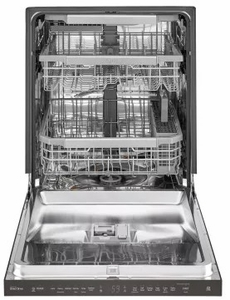 """LDP6797BD LG 24"""" Fully Integrated Top Control QuadWash Dishwasher with 9 Wash cycles and SmartThinQ - Black Stainless Steel"""