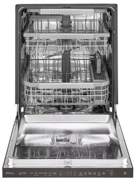 "LDP6797BD LG 24"" Fully Integrated Top Control QuadWash Dishwasher with 9 Wash cycles and SmartThinQ - Black Stainless Steel"