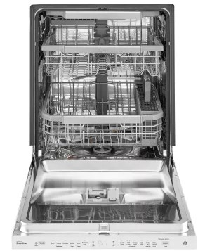 "LDP6797WW LG 24"" Fully Integrated Top Control QuadWash Dishwasher with 9 Wash cycles and SmartThinQ - White"