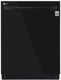 "LDT5665BB LG 24"" Fully Integrated Dishwasher with 15 Place Settings and SmartThinQ Technology - Black"
