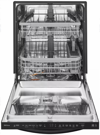 """LDT5665BB LG 24"""" Fully Integrated Dishwasher with 15 Place Settings and SmartThinQ Technology - Black"""