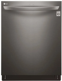 "LDT5665BD LG 24"" Fully Integrated Dishwasher with 15 Place Settings and SmartThinQ Technology - Black Stainless Steel"