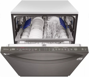 """LDT5665BD LG 24"""" Fully Integrated Dishwasher with 15 Place Settings and SmartThinQ Technology - Black Stainless Steel"""