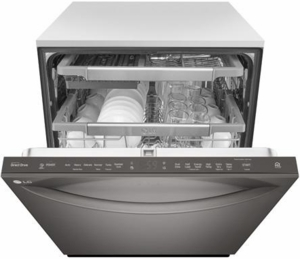 """LDT7797BD LG 24"""" Signature Series Top Control Tall Tub Dishwasher with SmoothTouch Controls and QuadWash - Black Stainless Steel"""