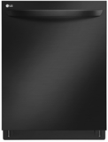 "LDT7797BM LG 24"" Top Control Dishwasher with QuadWash and EasyRack Plus - Matte Black Stainless Steel"