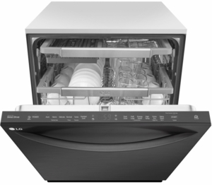 """LDT7797BM LG 24"""" Top Control Dishwasher with QuadWash and EasyRack Plus - Matte Black Stainless Steel"""