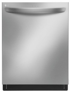 """LDT7797ST LG 24"""" Top Control Tall Tub Dishwasher with SmoothTouch Controls and Quadwash - Stainless Steel"""