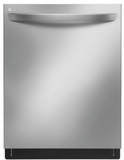 "LDT7797ST LG 24"" Top Control Tall Tub Dishwasher with SmoothTouch Controls and Quadwash - Stainless Steel"