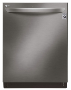 "LDT7808BD LG 24"" Top Control Smart Wi-Fi Enabled  Dishwasher with QuadWash and TrueSteam - Black Stainless Steel"
