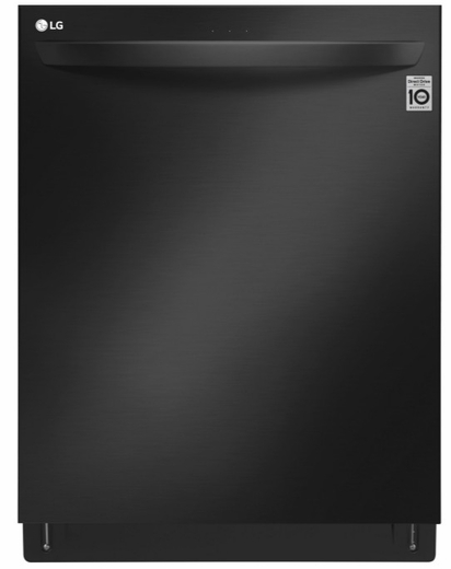 "LDT7808BM LG 24"" Top Control Smart Wi-Fi Enabled  Dishwasher with QuadWash and TrueSteam - Matte Black Stainless Steel"