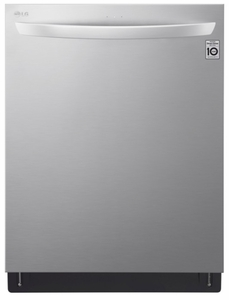 "LDT7808ST LG 24"" Top Control Smart Wi-Fi Enabled  Dishwasher with QuadWash and TrueSteam - Stainless Steel"