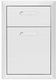 "LDW164 Lynx 16"" Ventana Collection Double Drawer - Stainless Steel"