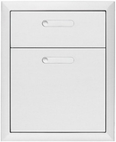 "LDW194 Lynx 19"" Ventana Collection Double Drawer - Stainless Steel"