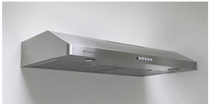 "LEVT36SS400B Faber 36"" Levante 1 Under Cabinet Range Hood with Stylish Controls and 300 CFM - Stainless Steel"