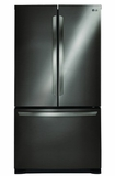 """LFC21776D LG 36"""" Energy Star 20.7 Cu. Ft. Counter Depth 3-Drawer French Door Refrigerator - Black Stainless Steel"""