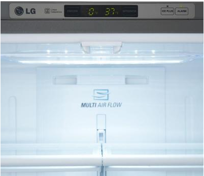 LFC21776ST LG Energy Star 20.7 Cu. Ft. Counter Depth 3-Drawer French Door Refrigerator - Stainless Steel