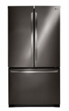 """LFCS25426D LG 36"""" 24.5 cu. ft. Capacity French Door Refrigerator with SpacePlus Ice System and Smart Cooling Technology  - Black Stainless Steel"""