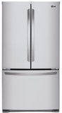 """LFCS25426S LG 36"""" 24.5 cu. ft. Capacity French Door Refrigerator with SpacePlus Ice System and Smart Cooling Technology  - Stainless Steel"""