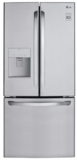 "LFDS22520S LG 30"" 21.8 cu. ft. French Door Refrigerator with a Smart Cooling System and  Factory-Installed Ice Maker - Stainless Steel"