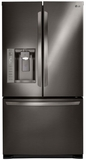 """LFX25973D LG 36"""" Ultra Capacity 3 Door French Door Refrigerator with Dual Ice Makers - Black Stainless Steel"""