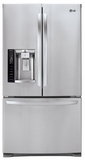 LFX28968ST LG Ultra-Capacity 3 Door French Door Refrigerator with Smart Cooling - Stainless Steel