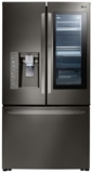 """LFXC24796D LG 36"""" 23.5 cu. ft. Capacity Counter Depth French Door Refrigerator with InstaView Window and SpillProof Glass Shelving - Black Stainless Steel"""