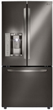 """LFXS24623D LG 33"""" French Door 24.2 Cu Ft. Refrigerator with Smart Cooling System - Black Stainless Steel"""