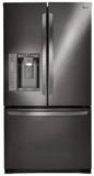"""LFXS24626D LG 36"""" 24.1 cu. ft. French Door Refrigerator with Smart Cooling System and Tall Water & Ice Dispenser - Black Stainless Steel"""