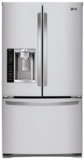 "LFXS24626S LG 36"" 24.1 cu. ft. French Door Refrigerator with 4 SpillProtector Glass Shelves - Stainless Steel"