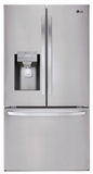 "LFXS28968S LG 36"" French Door 28 cu. ft. Capacity 3-Door French Door Refrigerator with Slim SpacePlus Ice System and SmartThinQ - PrintProof Stainless Steel"
