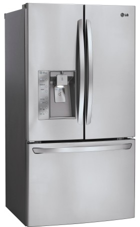LFXS29626S LG Ultra-Capacity 3 Door French Door Refrigerator with Dual Ice Makers - Stainless Steel